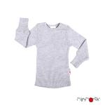 T-shirt manches longues en laine ManyMonths - coloris 2021 Platinum Grey