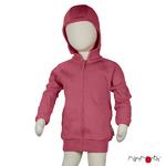 Gilet à capuche zippé en laine ManyMonths - coloris 2021 Earth Red
