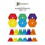 Connetix Jeu magnétique Pack géométrie Arc-en-ciel - 30 pièces