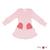 Robe poches coeur en laine ManyMonths - coloris 2021 Stork Pink
