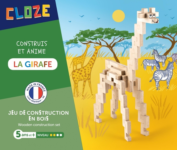 Jeu de construction en bois Girafe CLOZE