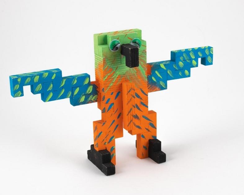Jeu de construction en bois Perroquet CLOZE 4