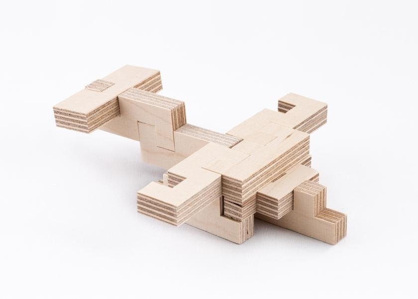 Jeu de construction en bois kit créatif avion CLOZE 3