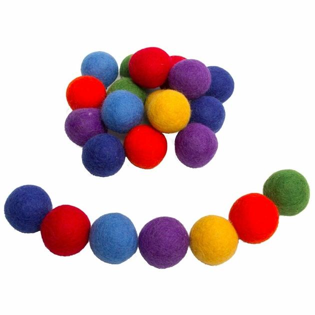 Balles 3,5cm en feutrine rainbow - set de 49 Papoose