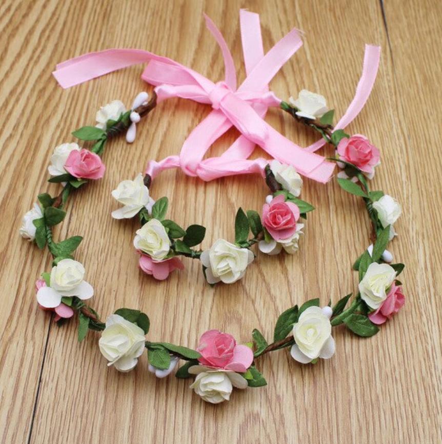 Couronne bracelet fleurs boho boheme chic ACCESS0413