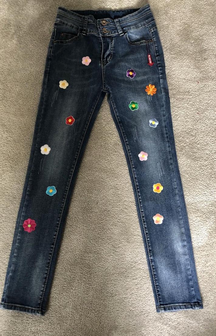 Exclusivité Jeans flowers hippie petite fille boho bohème chic JEANS0225