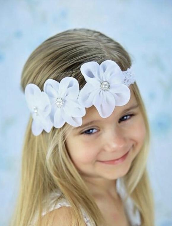 Bandeau fleurs petite fille boho bohème chic ACCCHEV0351