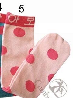 Chaussettes hautes pois petite fille boho boheme chic ling 0092
