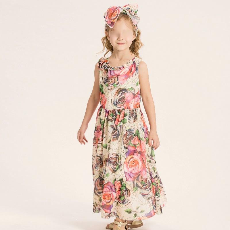 Robe longue petite fille fleurs boho boheme chic dresspf1187