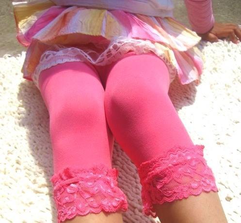 Legging petite fille bas dentelle boho boheme chic legg0031