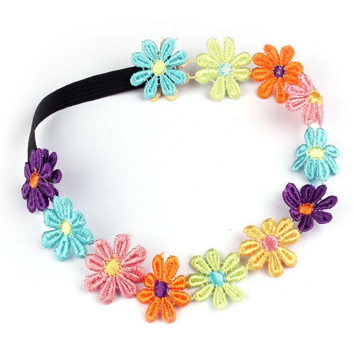 Serre tête ou bandeau fleurs boho boheme chic accesspf0159