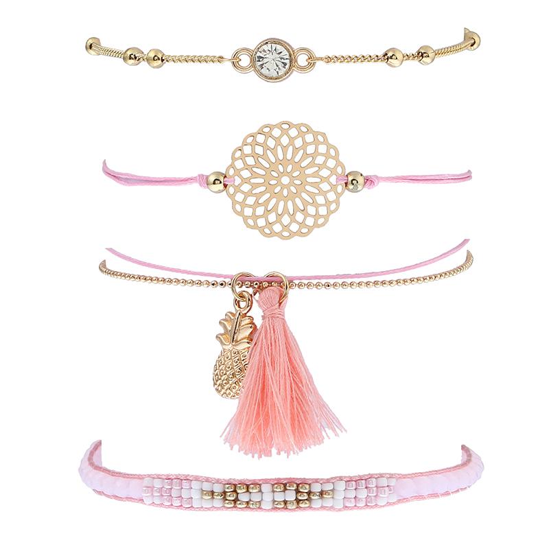 Bracelet 4 rangs séparés boho bohème chic BIJ0673