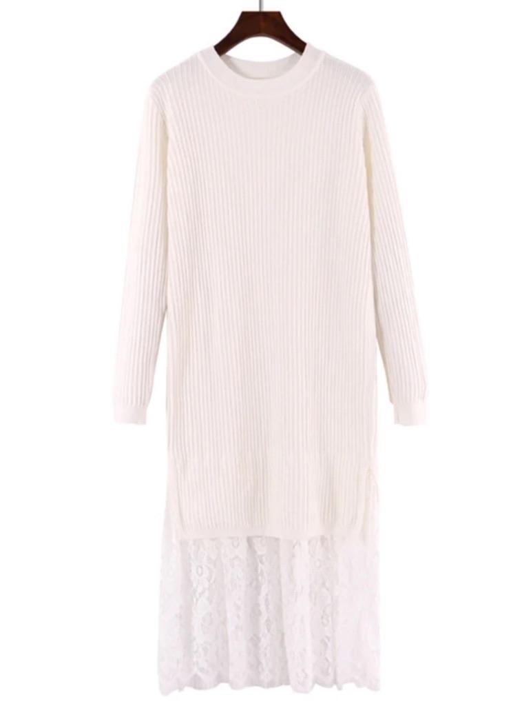Robe pull bas dentelle boho boheme chic DRESSL1714