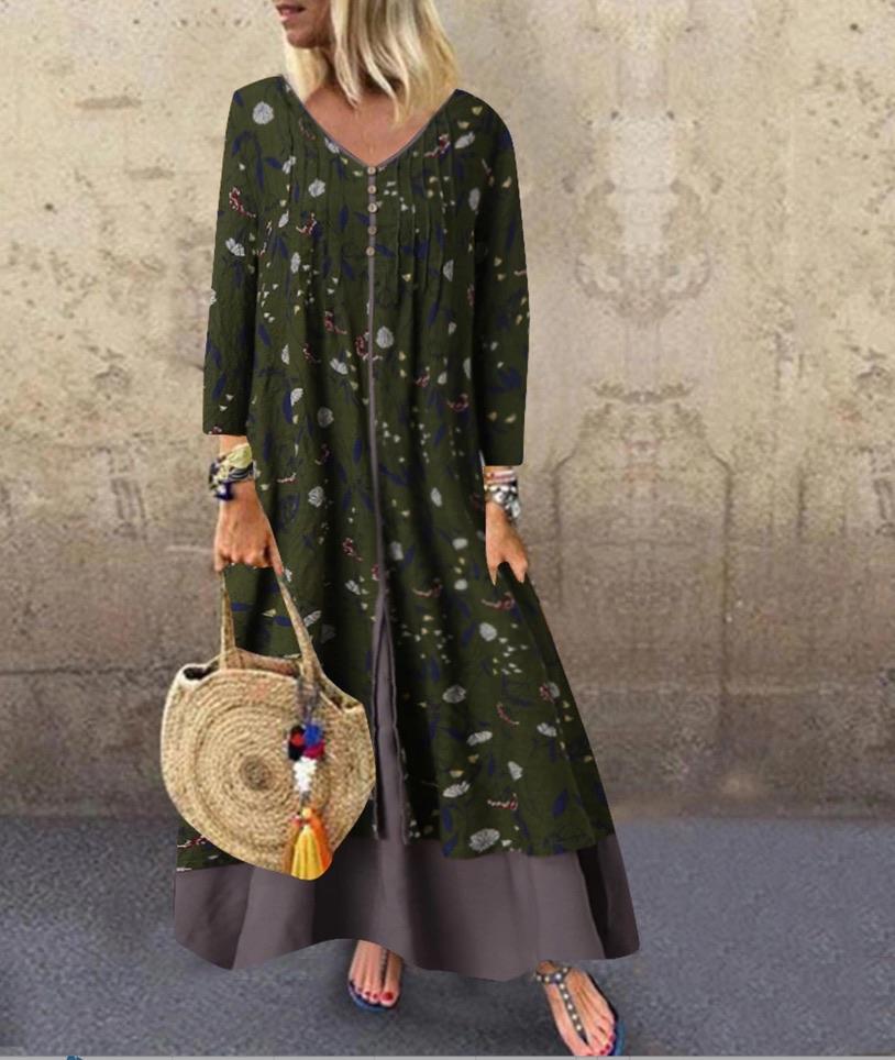 Robe imprimée 2 en 1 boho boheme chic DRESSL1709