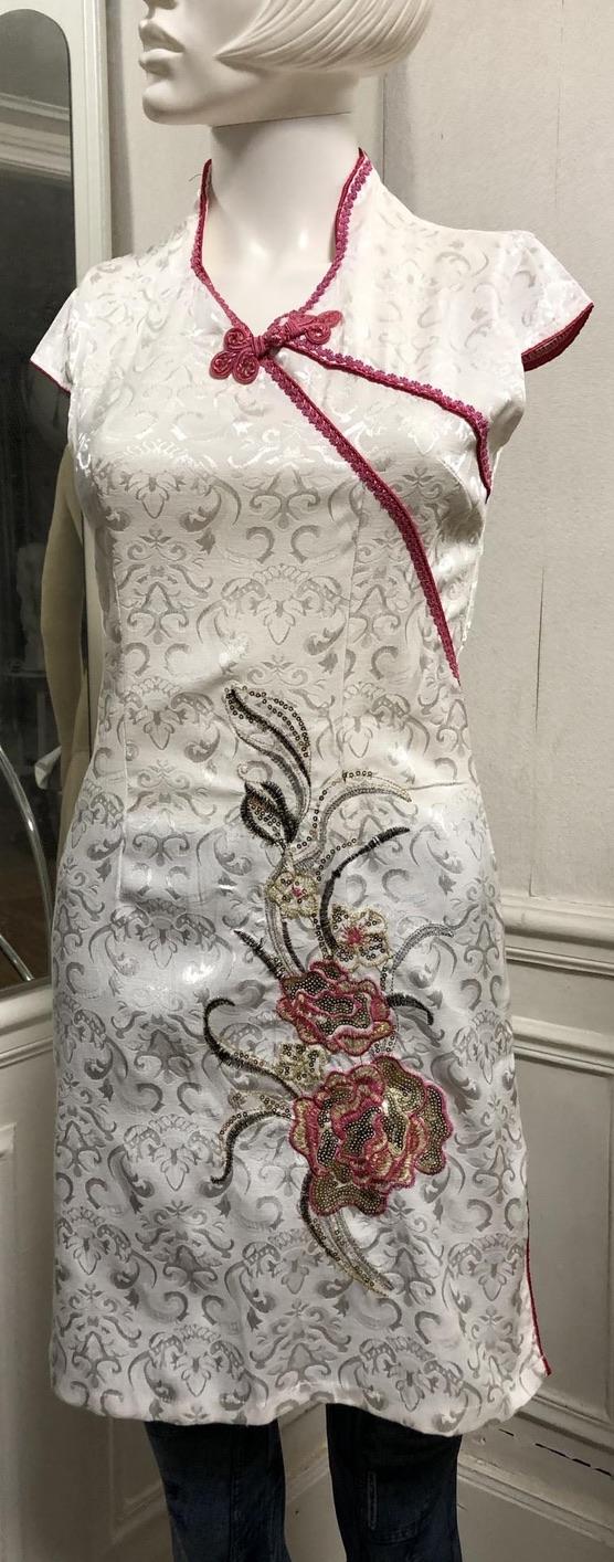 Robe brodée style asiatique boho bohème chic DRESSL1543