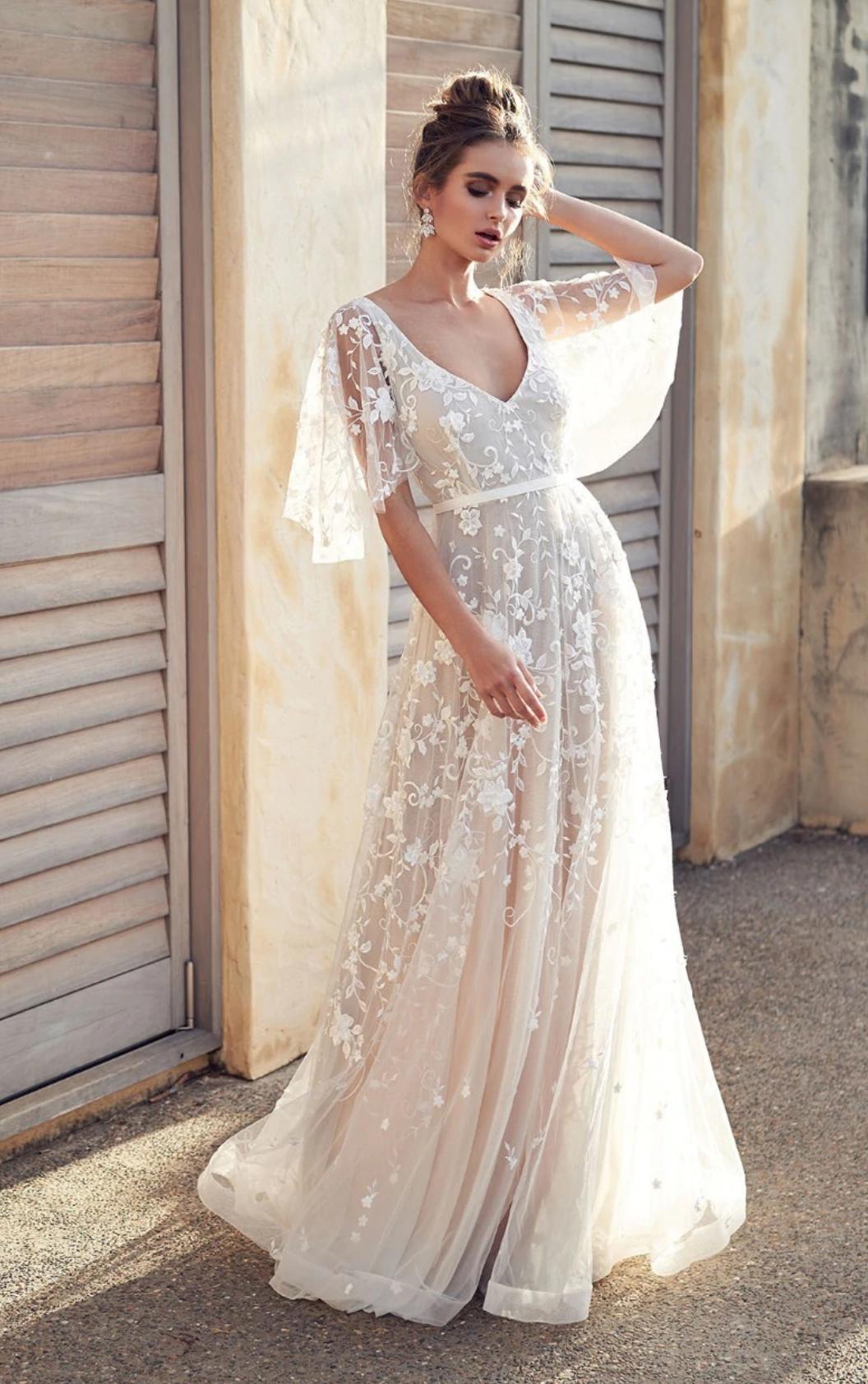 Robe longue mariage boho boheme chic DRESSL1