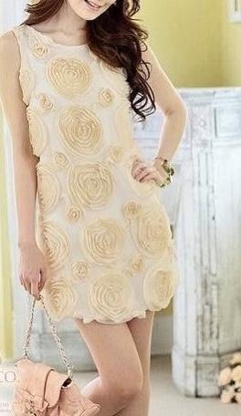 Robe courte fleurs boho boheme chic DRESS01474
