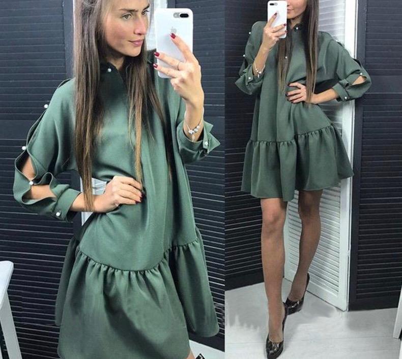 Robe courte évasée boho boheme chic DRESS1424