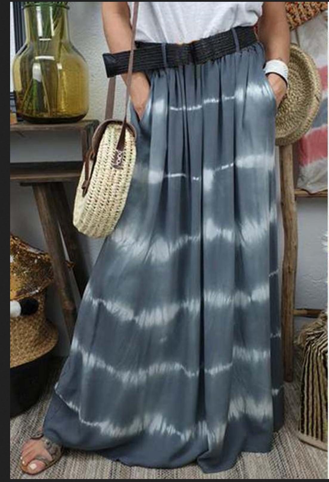 Jupe longue tie-dye boho boheme chic SKIRT0255