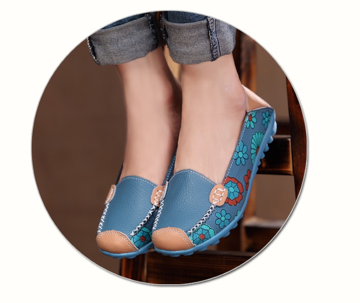 Chaussures cuir fleurs marque boho boheme chic shoes0050