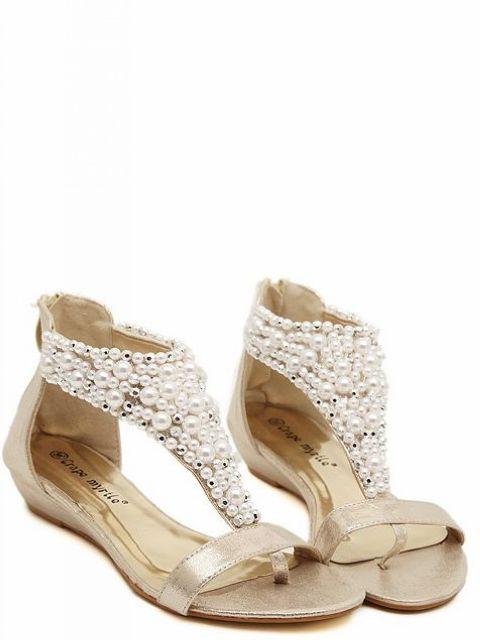 Chaussures petits talons perles boho boheme chic shoes0040