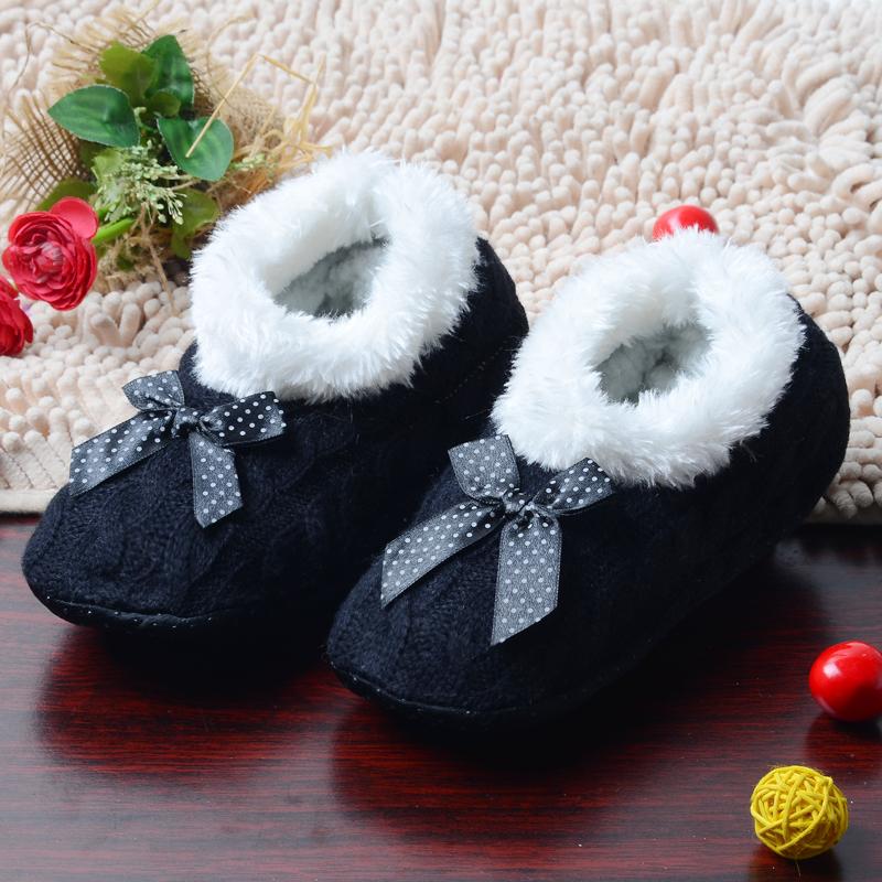 Chaussons noeud noir et blanc boho boheme chic shoes0041