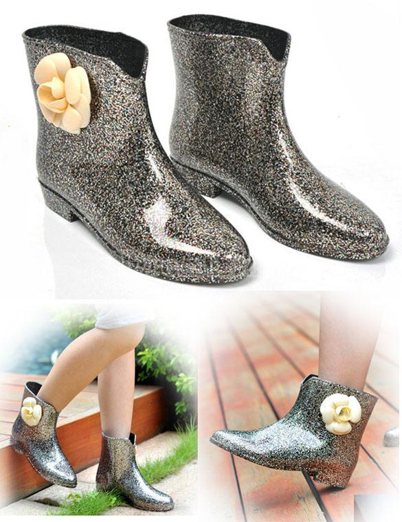 Bottillons pluie caoutchouc boho boheme chic shoes0030
