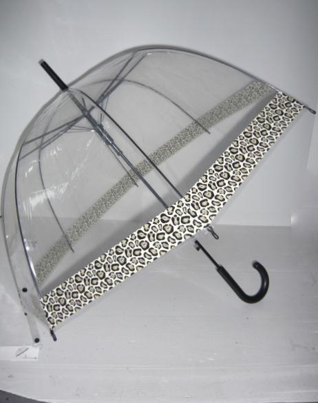 Parapluie transparent bordure léopard boho boheme chic div0429