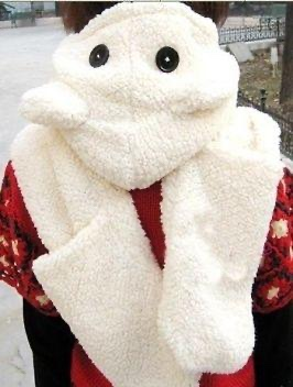 Echarpe capuche moufles boho boheme chic SCARF0194