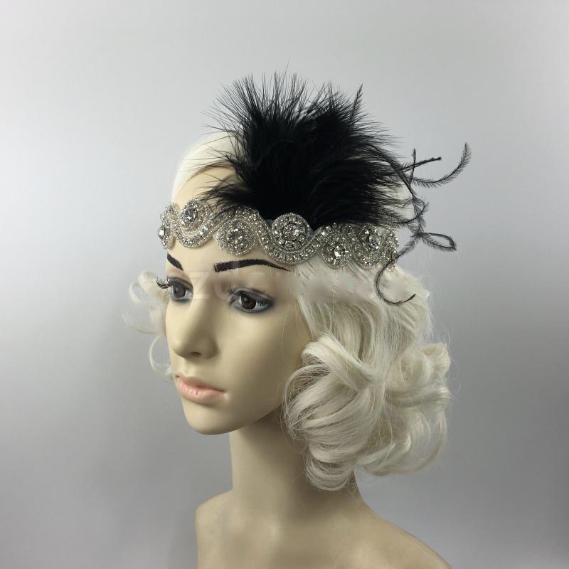 Bandeau cheveux plumes gatsby boho boheme chic HAIR0425