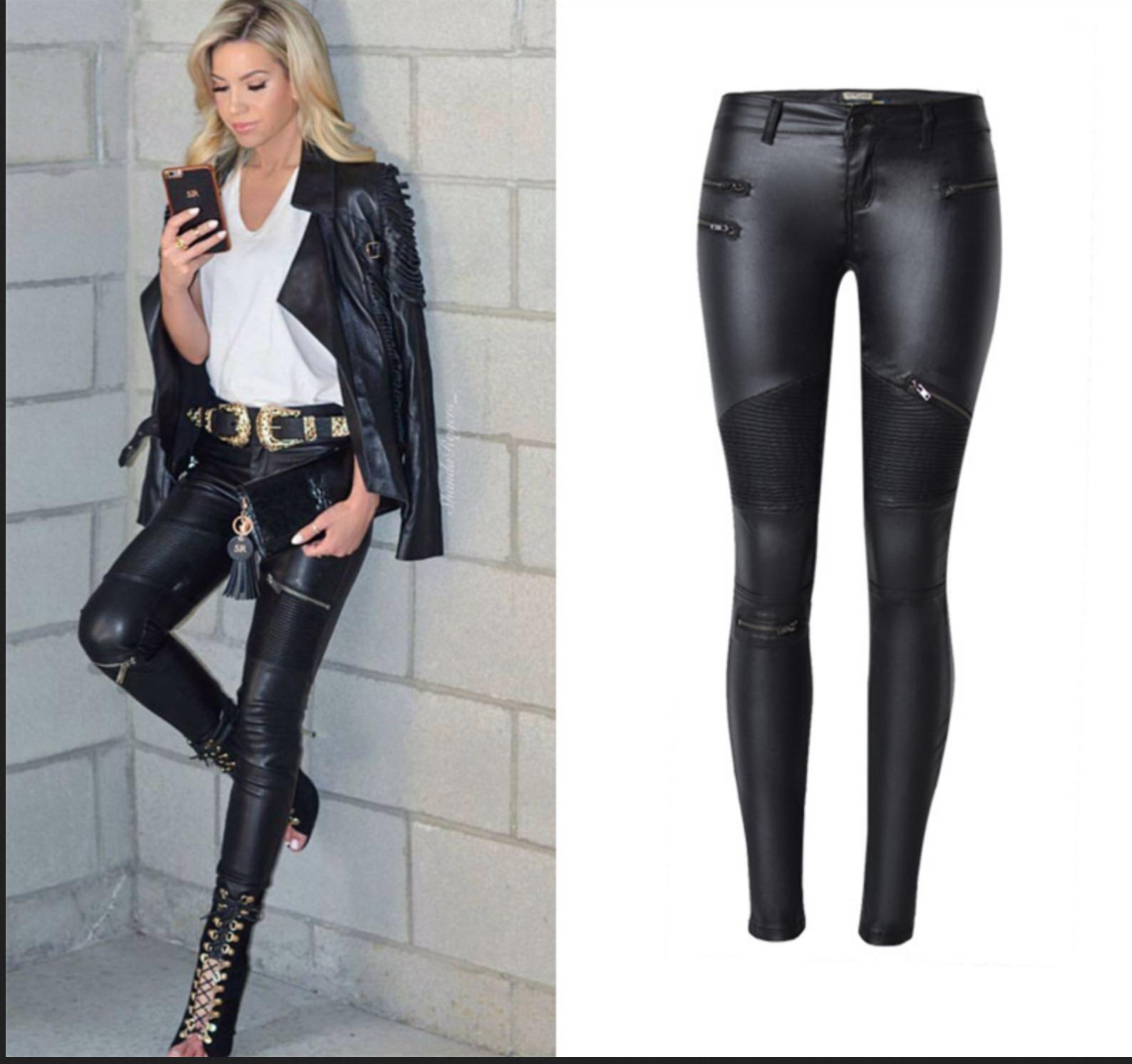 Legging pantalon style cuir boho bohème chic pants0244