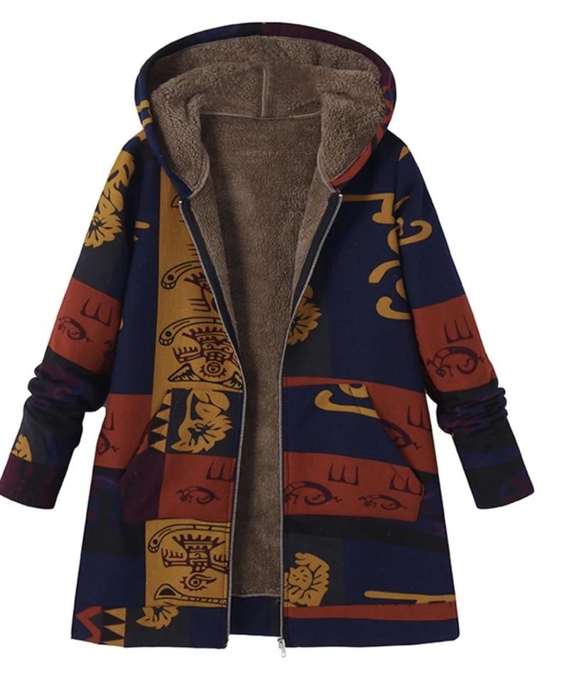 Manteau imprimé ethnique boho boheme chic COAT0204