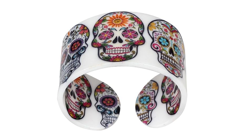 Bracelet acrylique tête de mort boho boheme chic BANGLE0620