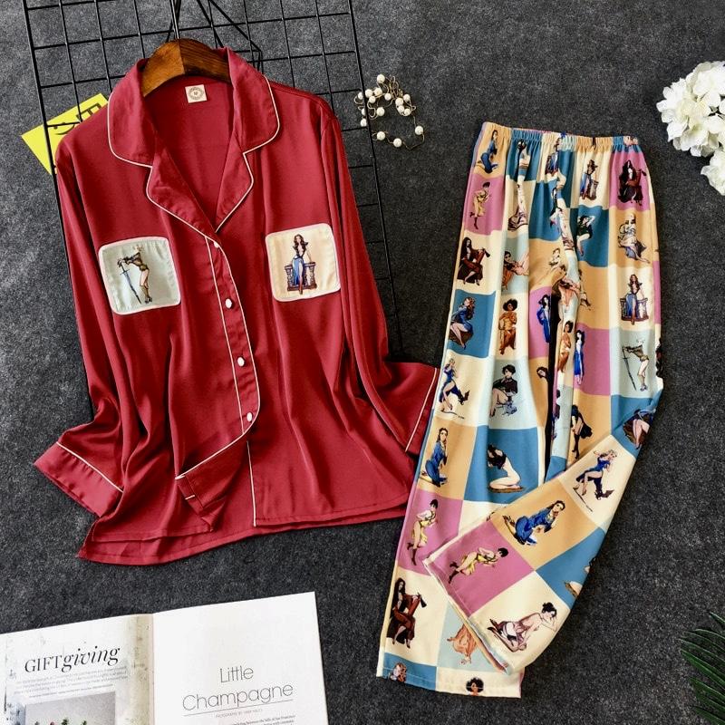 Pyjama 2 pièces imprimé boho bohème chic LING0348