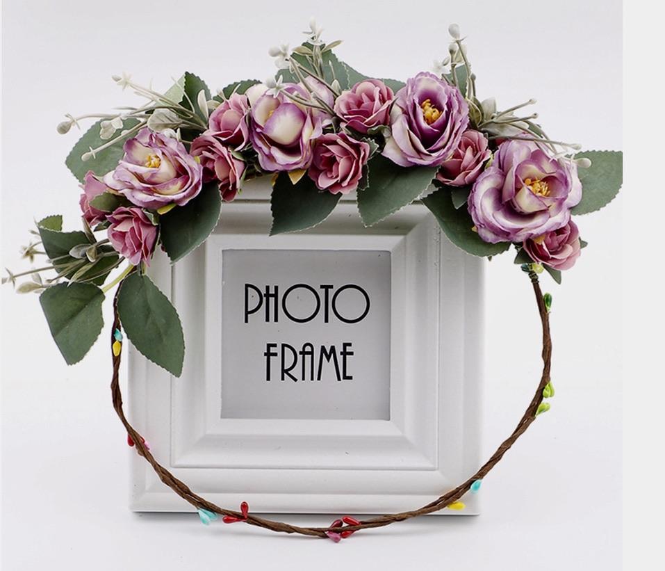 Couronne feuilles fleurs boho boheme chic HAIR0415