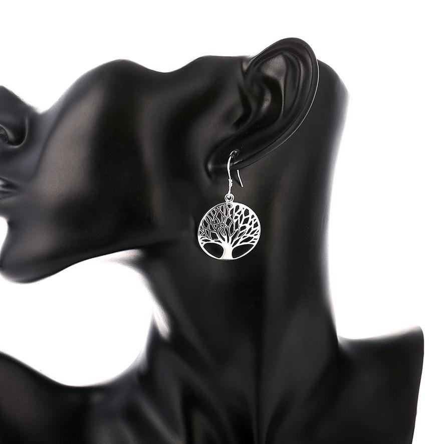 Boucles d\'oreilles arbre argent boho boheme chic BO0593