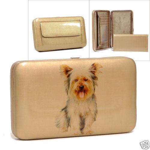 Porte cartes porte feuilles rigide chien boho bohème chic Wallet0138