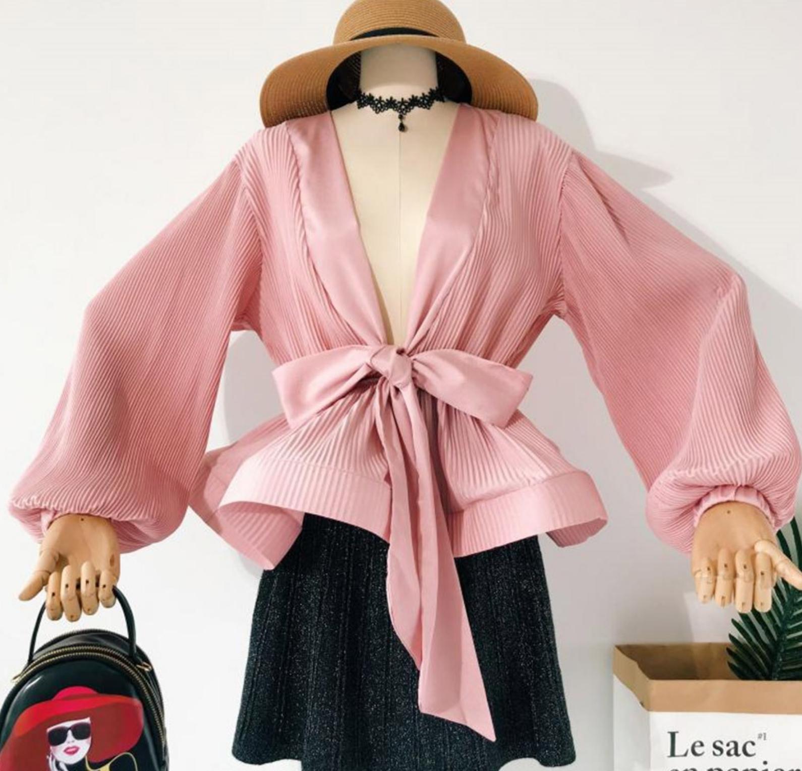 Blouse plissée habillée boho boheme chic BLOUSE0532