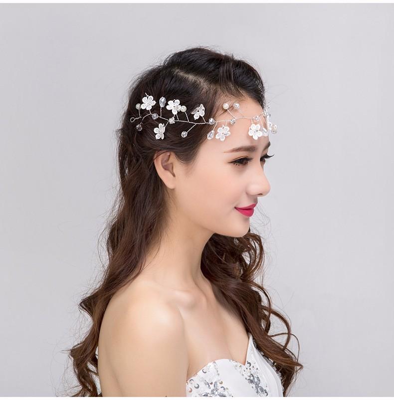 Couronne cheveux mariage fleurs perles boho bohème chic HAIR0391