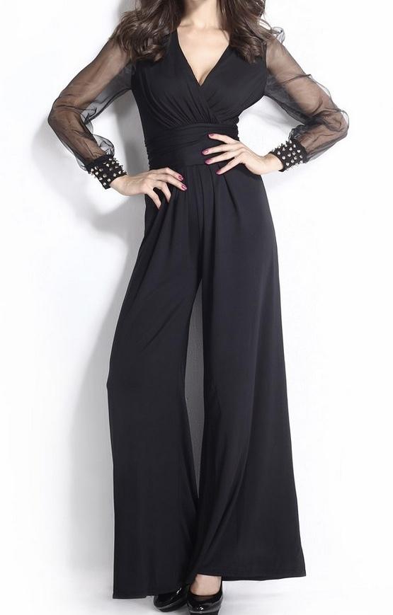 Pantalon combinaison noire marque boho boheme chic PANTS0113