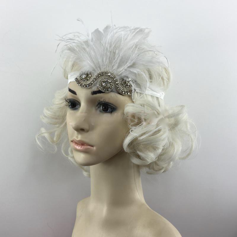 Bandeau cheveux plumes gatsby boho bohème chic ACCCHEV0386