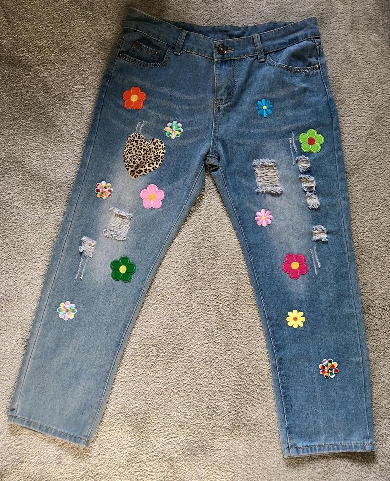 Exclusivité jeans fleurs hippie boho bohème chic JEANS0228