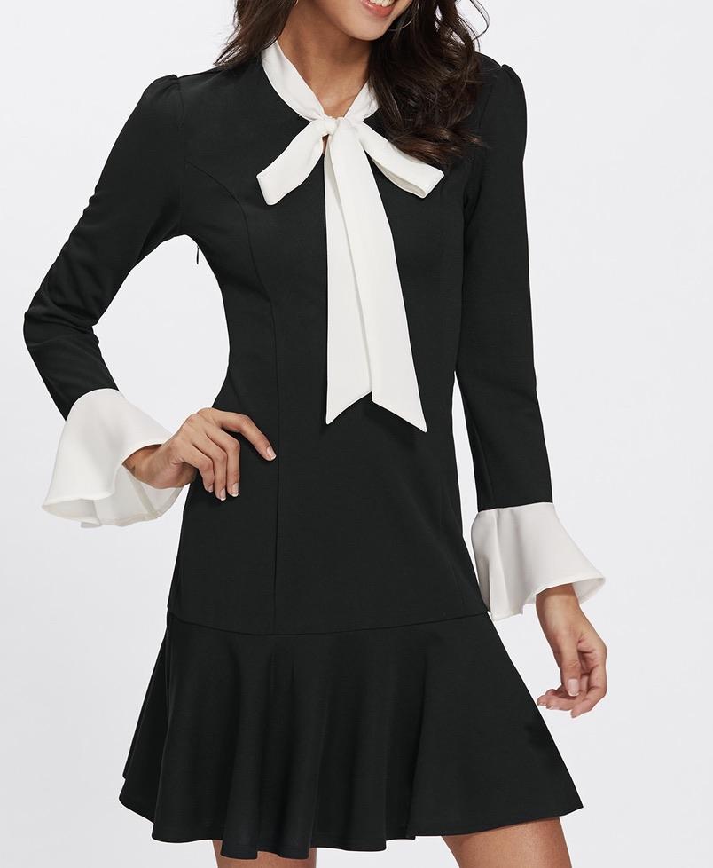 Robe col cravate boho boheme chic dress1336