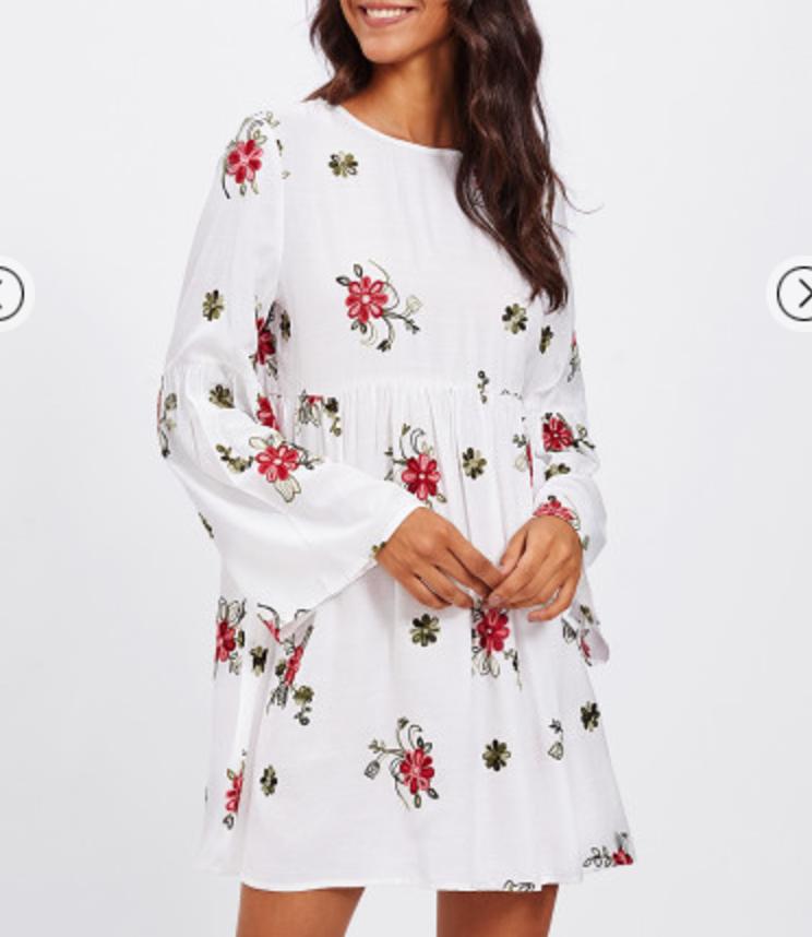 Robe courte brodée boho boheme chic dress1312