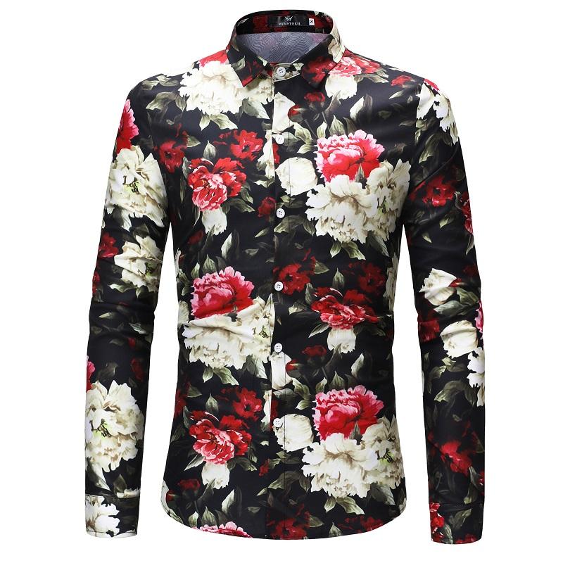 Chemise homme fleurs boho boheme chic HOM0073