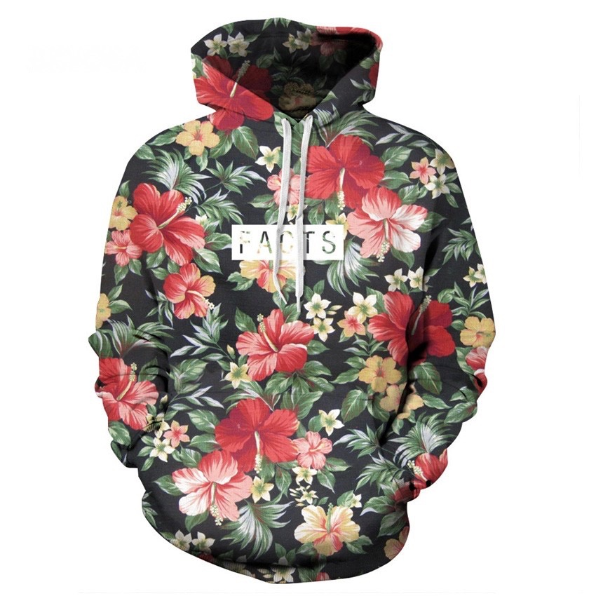Sweater homme fleurs capuche boho boheme chic HOM0044