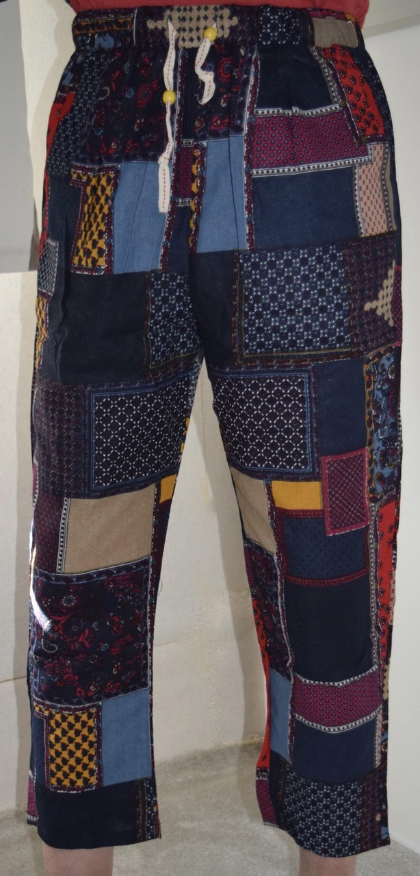 Pantacourt homme patchwork boho boheme chic  HOM0029