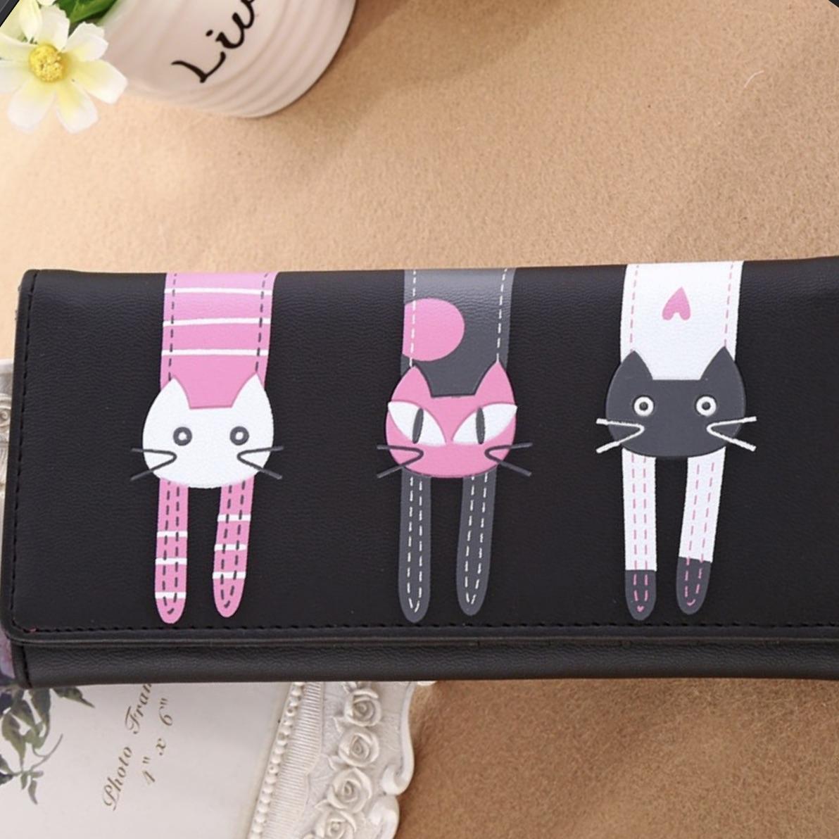 Porte cartes portefeuille chats boho boheme chic wallet0203