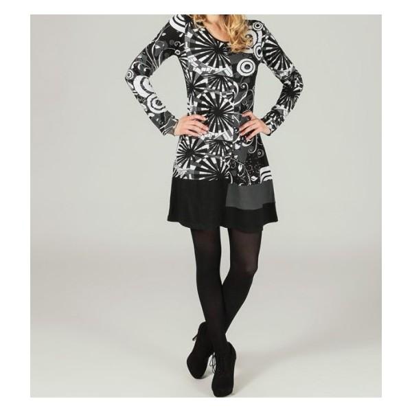 Robe coton imprimée boho boheme chic dress1139