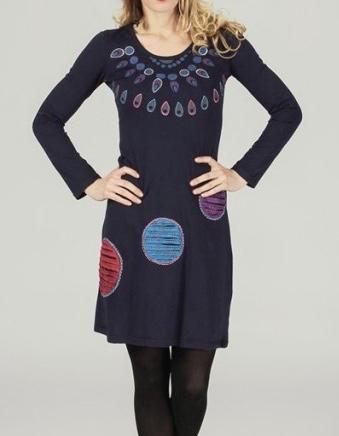 Robe brodée coton boho boheme chic dress1136
